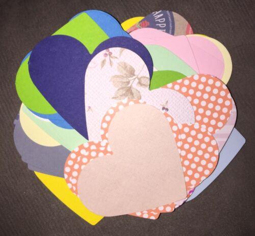 Main Poinçonné Craft Paper Valentine Large Love Coeurs Cardmaking scrapbooking