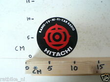STICKER,DECAL HITACHI  RADIO TV HI-FI CAR RADIO AUDIO STICKER
