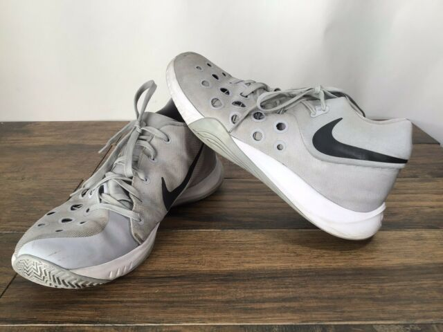 Juguetón Radioactivo Puntuación  Nike Zoom Hyperquickness 3 812976-011 Men Sz 13 Basketball Shoes Gray N10  for sale online | eBay