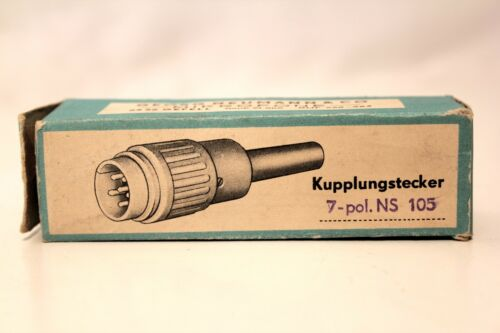 Orig Georg Neumann Tuchel-Kupplungsstecker NS-105-7polig NOS