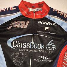 Small CYCLES FANATIC ClassBook.com Mens cycling BIKE Race jersey Top EUC