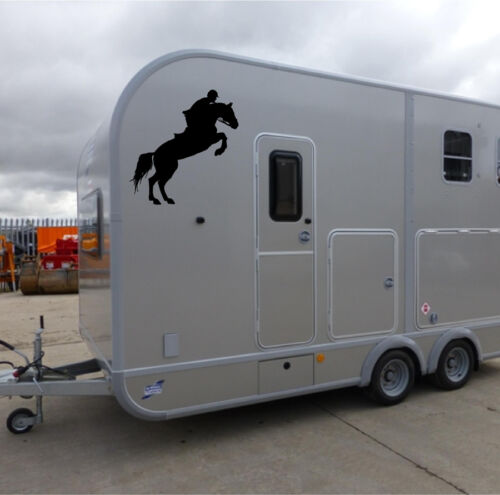 Dos Caballos Jinete Pegatinas//Pegatinas de caballo//remolque de caballos Pegatinas//S65