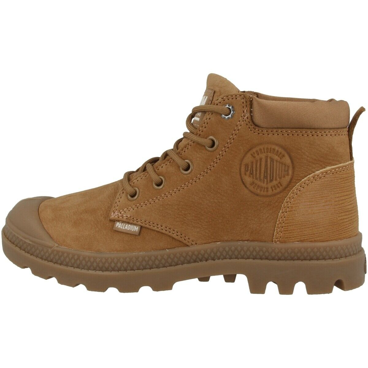 Palladium Pampa Lo Cuff Leather damen Schuhe Mid Cut Turnschuhe mahogany 95561-257