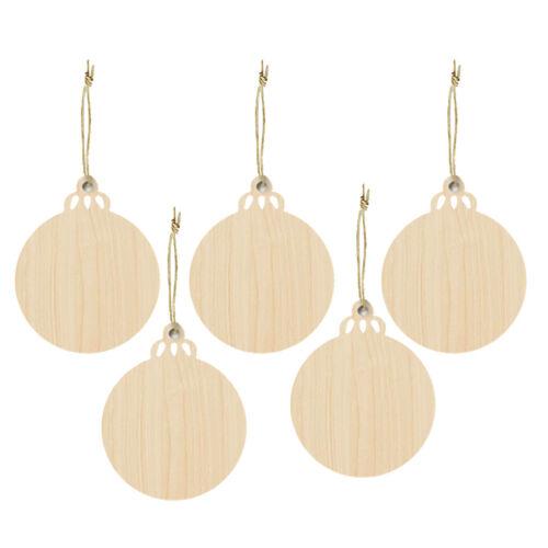 30pcs Kids Crafts Supply Wooden Ornaments Unpainted Wood Embellishments