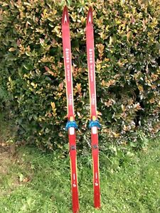 Details About Vintage Asnes Wood Cross Country Skis Waxless 170cm