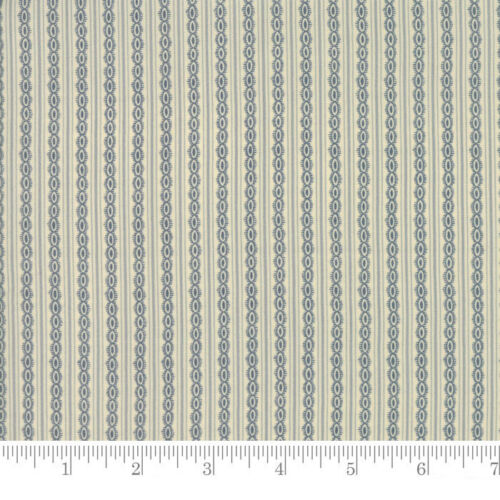 Moda Fabric Rachel Remembered Teardrops Lapis Per 1//4 Metre
