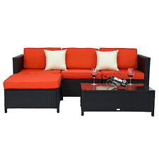 Kinbor 5PC Sectional Patio Sofa and Table Set Gaden Furniture Outdoor Pool Lawn
