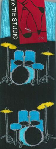 Kit de tambor Azul Música Banda Rock Unisex Novedad Calcetines de tobillo Tamaño Adulto 6-11
