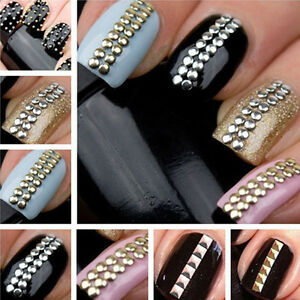 Gold-amp-Silver-1000pcs-Stud-Nail-Art-3D-Design-Decoration-Stickers-Studs-NC596