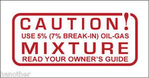 Vintage look Wards Riverside Benelli CAUTION Gas Tank Vinyl Decal Sticker