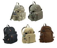 Vintage Unisex Military Mini Canvas Backpack Bag