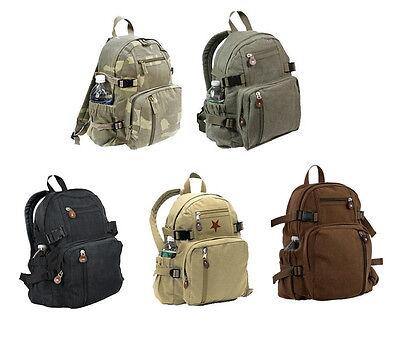 Vintage Unisex Military Mini Canvas Backpack Bag