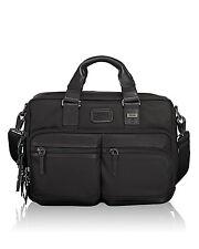 $785 Tumi Mens BLACK Alpha Bravo Andersen Brief Laptop BRIEFCASE WORK TRAVEL BAG