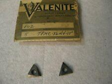 Valenite Tpmc 32nv 10 Vc2 Carbide Insert 2pc Lot