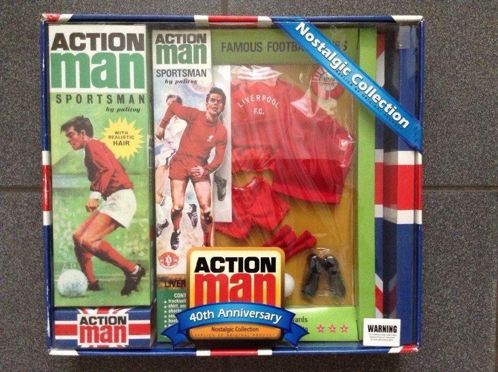 VINTAGE ACTION MAN LIVERPOOL FOOTBALLER 40TH ANNIVERSARY BOX SET