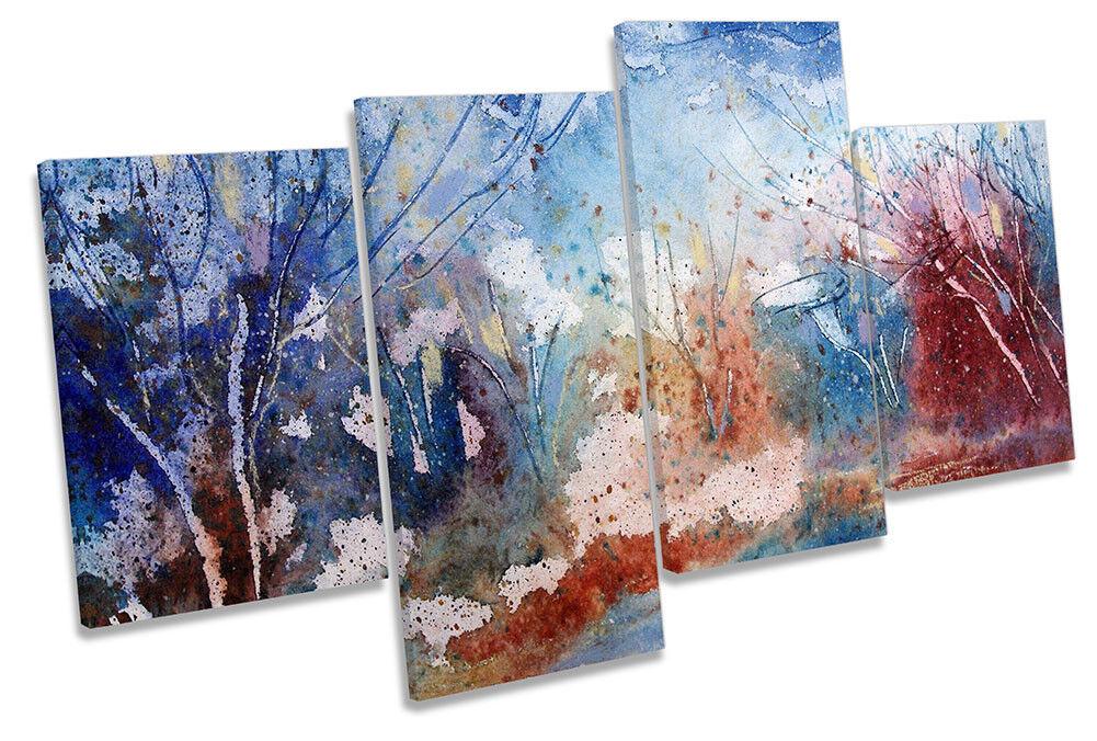 Paisaje Abstracto Acuarela impresión de de de múltiples LONA parojo arte enmarcado ee3214