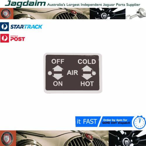 New Jaguar E-Type Heater Legend Plate BD33112