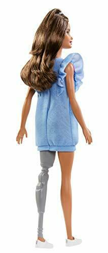 Barbie Fashionistas Doll with Long Brunette Hair and Prosthetic Leg Wearing