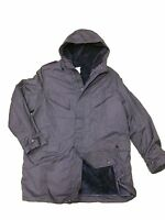 Nato,dutch Army Surplus Artic Winter Parka, Navy Blue, New, One Piece Lined Hood