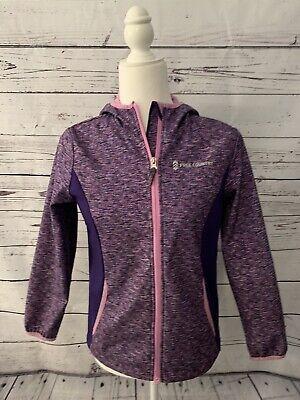Free Country Girls Soft Shell Hooded Jacket Sz Xl 10 12 Fleece Lined Purple Ebay
