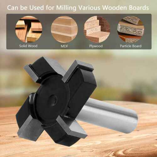 """1//2/"""" Shank CNC Spoilboard Surfacing Router Bit Slab Milling Cutter Tool Durable"""