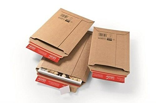 A4 Colompac Premium Rigid Cardboard Expanding Envelopes 235 x 340 x 35mm Qty...