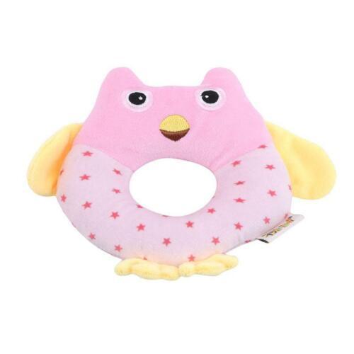 Toy Hand Plush Bell Baby Rattle Doll Animal Soft Rattles Kids Newborn Toys 6L