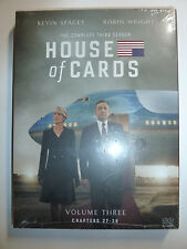 House of Cards The Complete Third Season DVD 4-Disc Box Set TV drama series NEW!