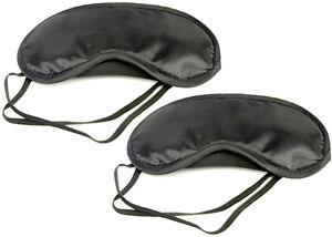 PRESKIN-2er-Set-Schlafmaske-Schlafbrille-schwarz-mit-Lasche-Augenmaske