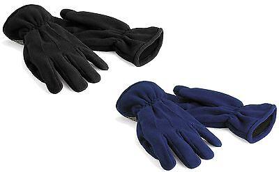 Nouveau Homme Thermique Thinsulate Doublé Polaire Hiver Chaud Gants GL127 M//L Noir