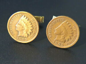 INDIANHEAD PENNY CUFFLINKS !!MANUFACTURERS DIRECT PRICING!!!
