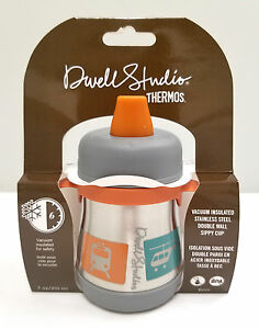 Dwell Studio for Thermos, Vacuum Insulated Stainless Steel Sippy Cup, 7oz