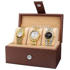 New Women's August Steiner AS8123YG Diamond MOP Stainless Steel Three Watch Set