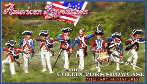 COLLECTORS SHOWCASE AMERICAN REVOLUTION CS00856 CONTINENTAL KNEELING FIRING MIB