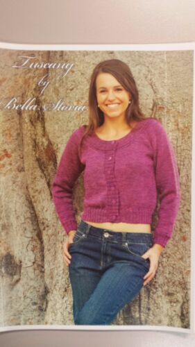 Bella Storia Knitting Pattern #105 To Knit Ladies Cardigan in Tuscany 8 Ply
