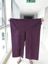 Purple  XXL JUMBO SIZE-THAI Unisex YOGA Toray Fisherman Long Pant/Trouser