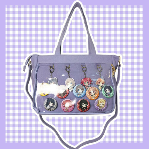 Japanese Lolita Transparent Jelly Candy clair itabag Toile Sac a bandouliere NEUF