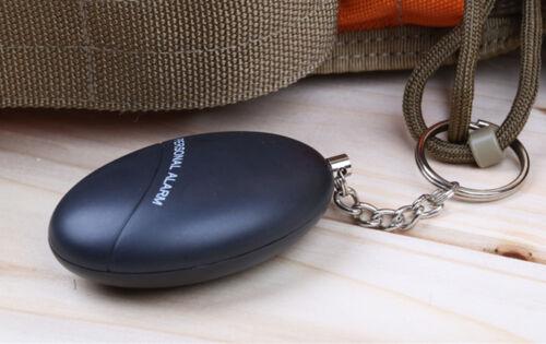 Personal Alarm Panikalarm Taschenalarm Schlüsselanhänger 120db mit Batt Schwarz