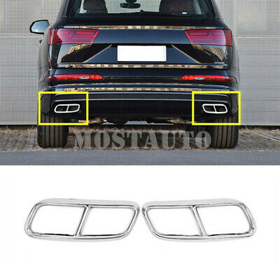 Car Stainless Steel Auto Rear trunk Lid Cover Trim For Audi Q5 2008-2015