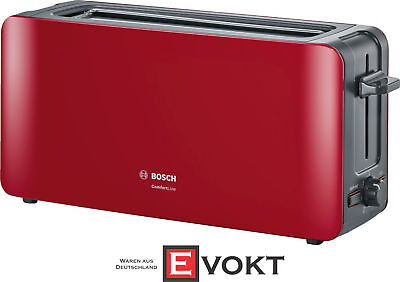Bosch Tat6a004 Comfortline Long Slot Toaster Red 1090w
