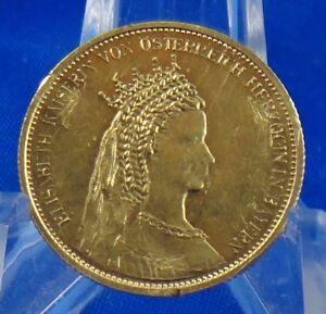 österreich Elisabeth Kaiserin 20 Corona Gold Münze Medaille Selten