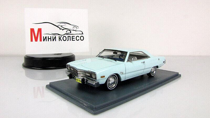 Scale Modellll car 1 43 Dodge Dart Swinger Licht Blau 1973