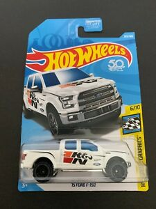 2018-Hot-Wheels-203-HW-Speed-Graphics-6-10-039-15-FORD-F-150-White-w-Black-OH6-Sp