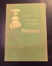 Antiker Katalog Dampf Heizungs-Pumpen-Armaturen Freiberg i.Sa. 1937 ..