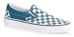 VANS-SLIP-ON-CHECKERBOARD-CORSAIR-BLUE-WHITE-SKATE-SHOES-MENS-SZ-10-NEW-NIB