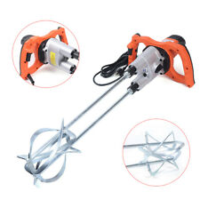 110v Paddle Mixer Electric Mortar Plaster Mixing Paint Stirrer Double Plastering