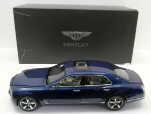 Kyosho-1-18-Scale-Diecast-BL1295-Bentley-Mulsanne-Speed-Marlin-Blue