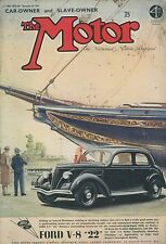 1937 THE MOTOR MAGAZIN NR 1874 FORD V-8 ''22'' HUDSON EIGHT SALOON ENGLISCH