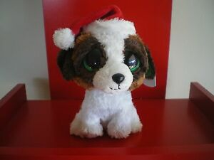 Ty Beanie Boos PRESENTS the dog 6 inch NWMT - RETIRED CRISTMAS BEANIE BOO.