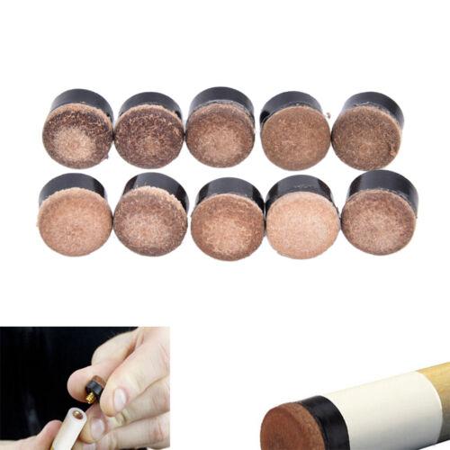 10x 10mm Screw On Queue Stick Tipps für Billard Snooker Billard ErsatzteileYR